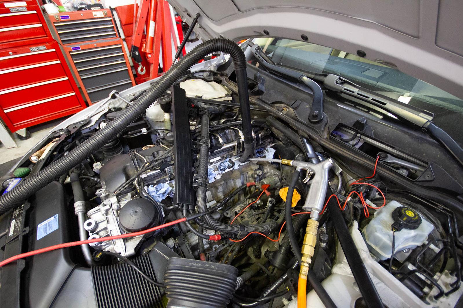 How To Walnut Blast Intake Valves on BMW 335i! (DIY) - BMW 335i (N54)